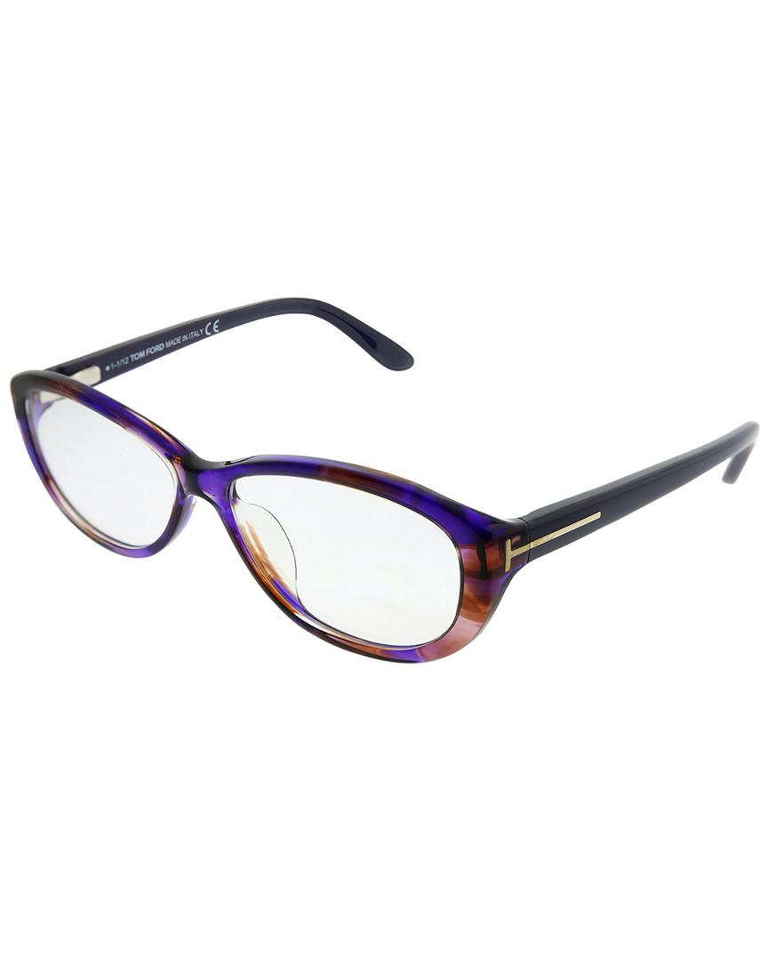 33b1660d01 Tom Ford Oval 56mm Optical Frames in Blue - Lyst
