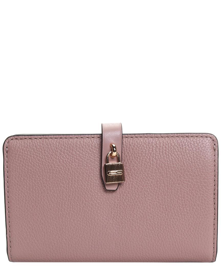 91eaf8ae72d0 Lyst - Michael Kors Michael Adele Slim Bifold Leather Wallet in Purple
