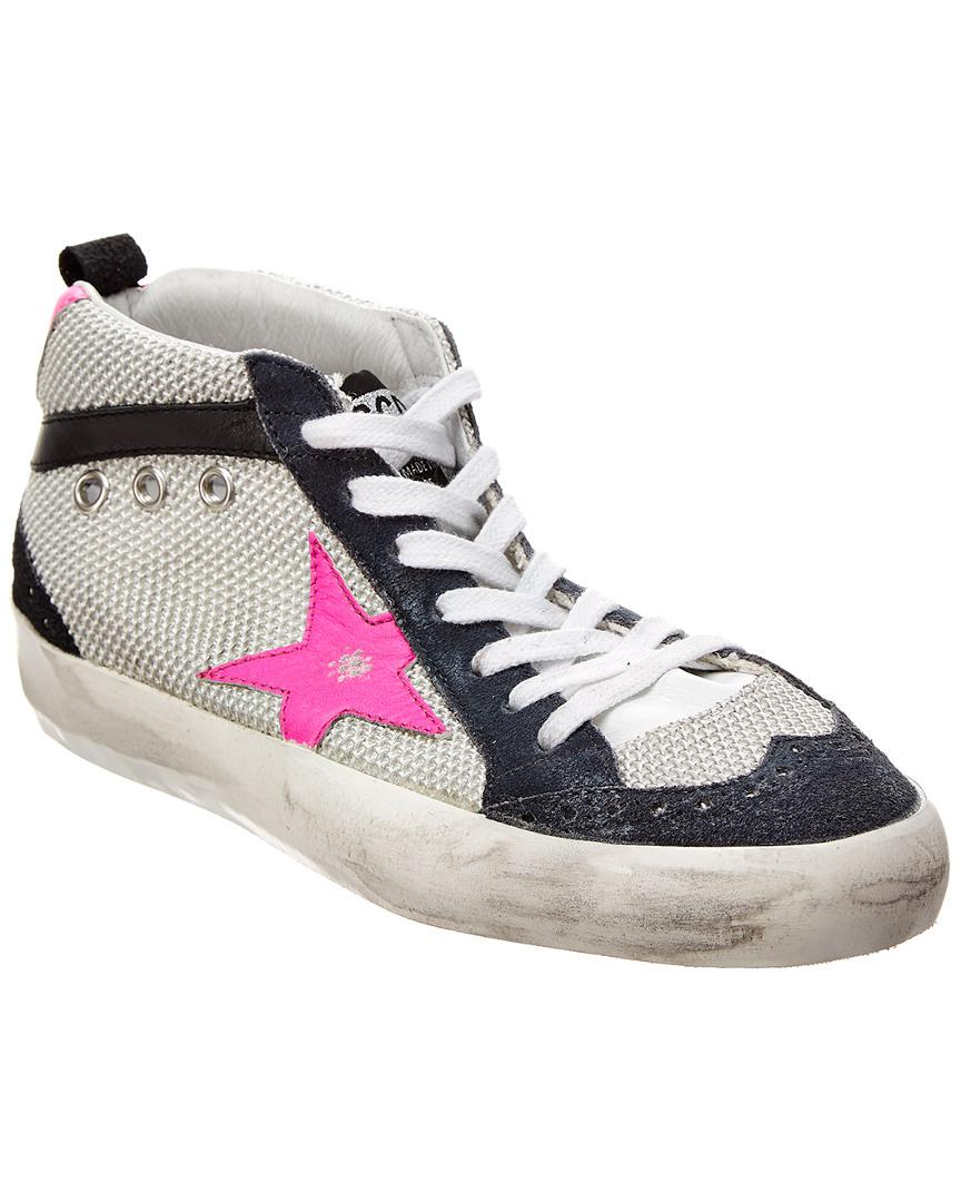 5111a1908979 Lyst - Golden Goose Deluxe Brand Mid Star Leather   Suede Sneaker in ...