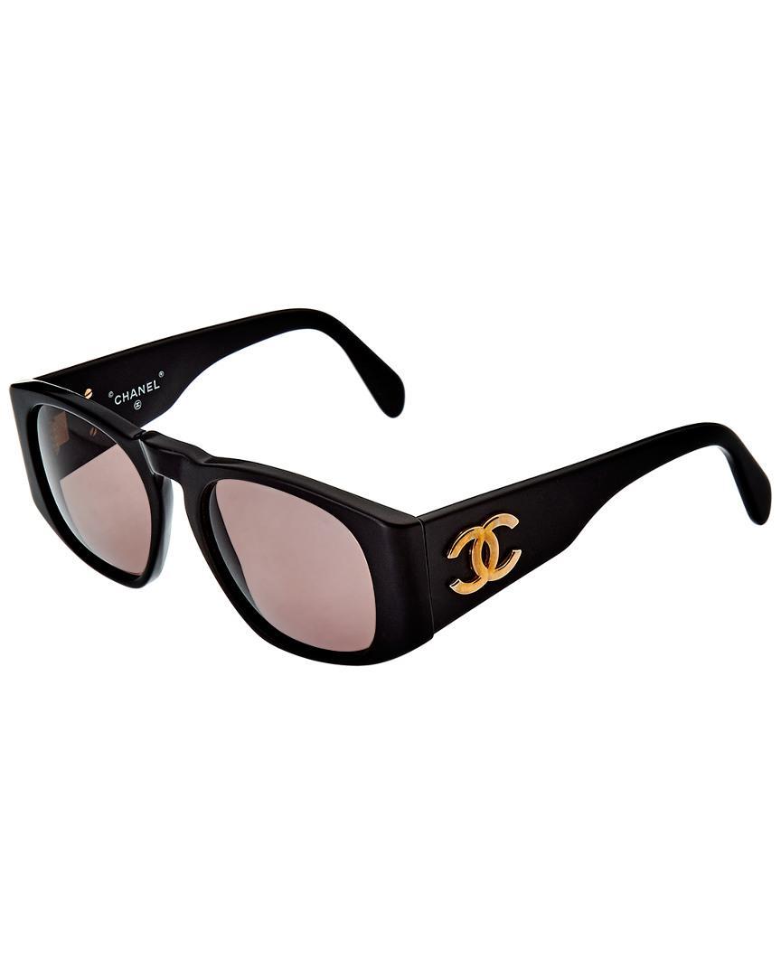 2e898b3840 Lyst - Chanel 60mm Matte Sunglasses in Black