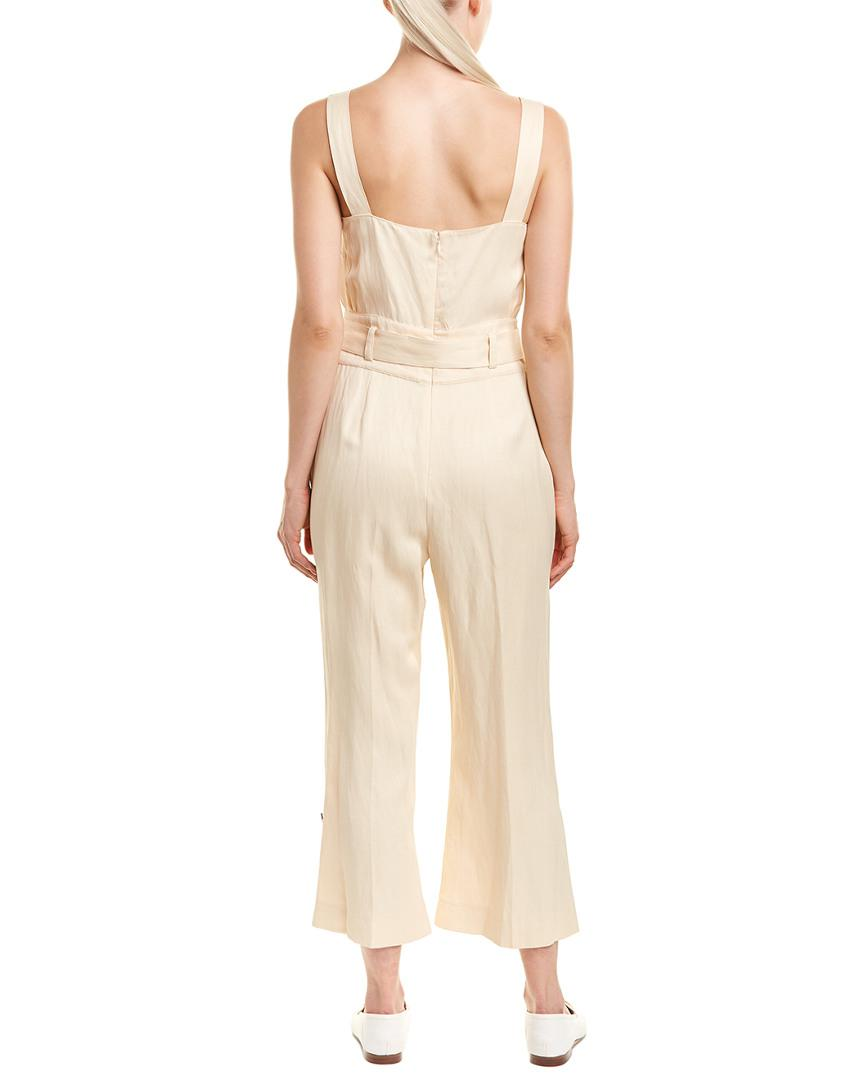 03f7f942cb7 Lyst - 10 Crosby Derek Lam Belted Linen-blend Jumpsuit in Natural - Save 50%