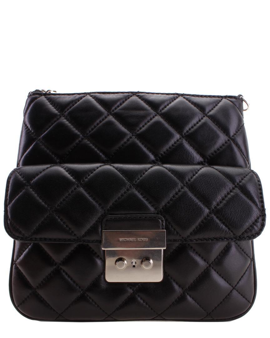 d2600374a933 Michael Kors Sloan Leather Crossbody in Black - Lyst