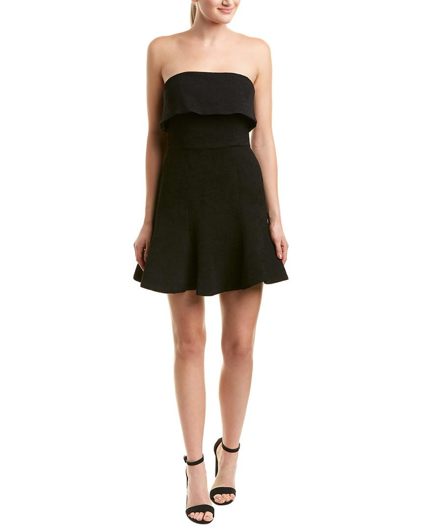 ed891fca086cb C/meo Collective. Women's Black Fluidity Strapless Fit & Flare Short Mini  Dress