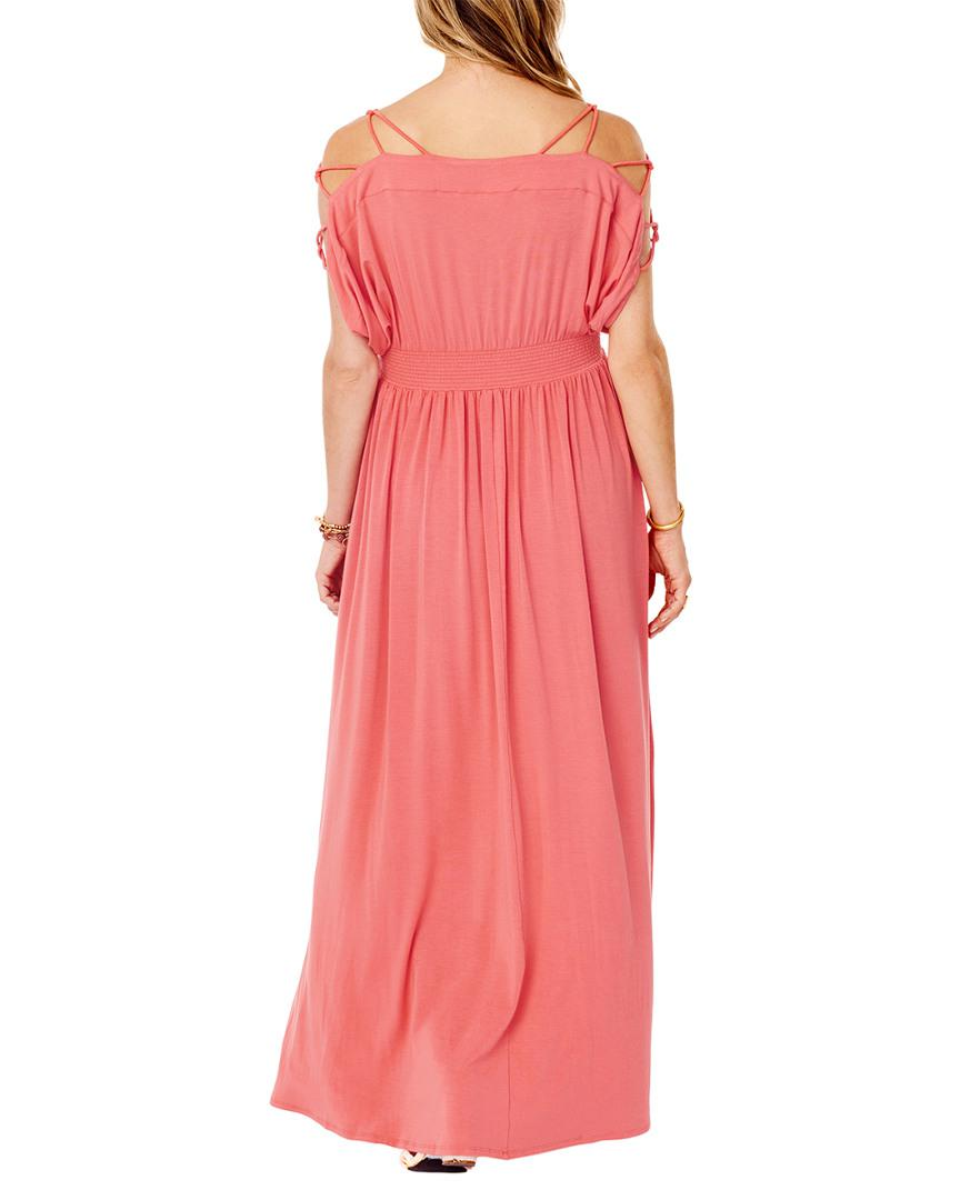 145f34e1591 Lyst - Ingrid   Isabel Smocked Empire Maxi Dress in Pink