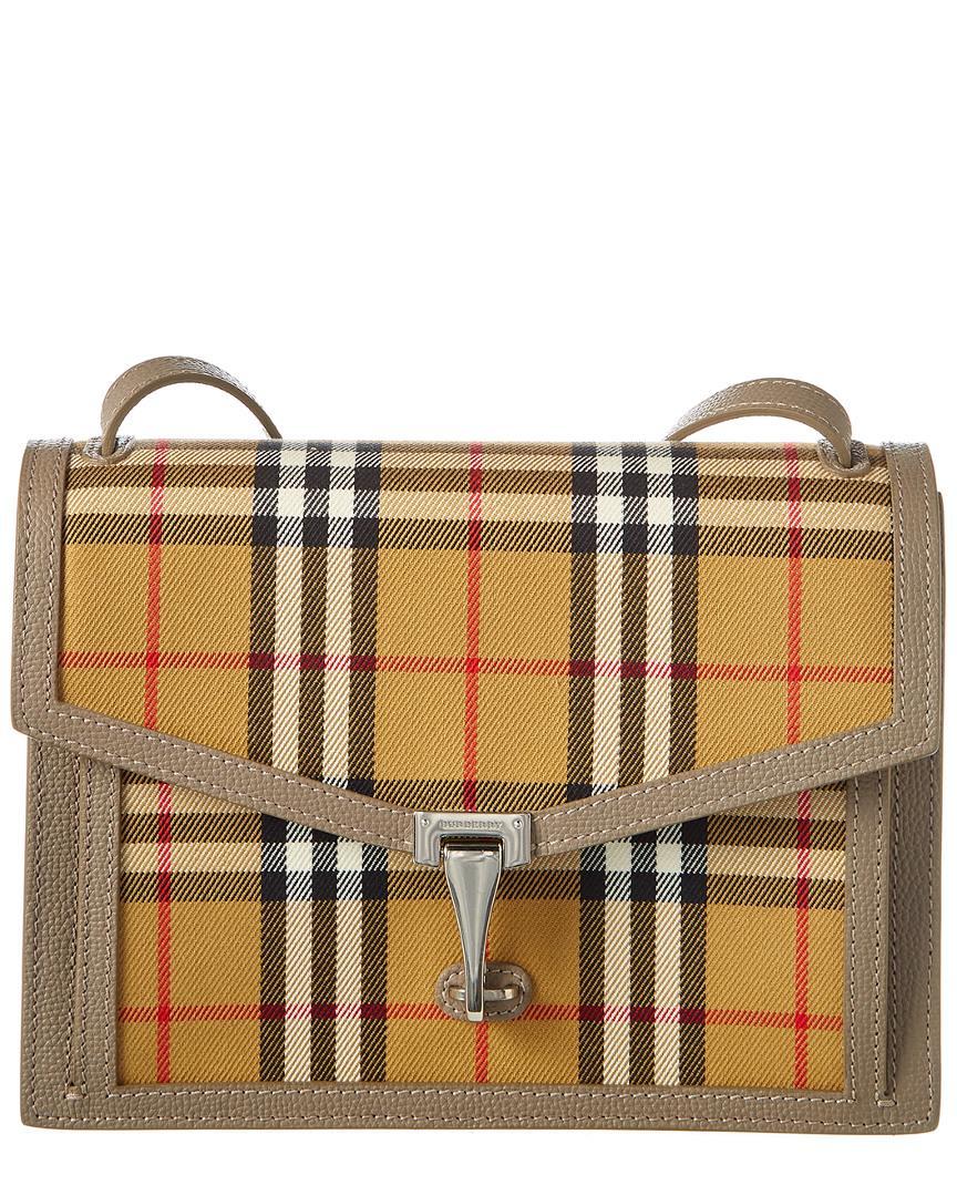 b03e1adfefdb Burberry Small Macken Vintage Check Canvas Crossbody in Brown - Save ...