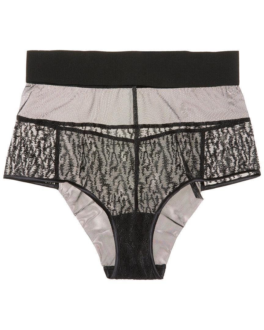 5d22c526479c La Perla Embroidered Mesh Panty in Black - Lyst