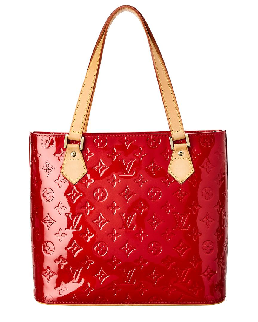 bd685ee38fb9 Lyst - Louis Vuitton Red Monogram Vernis Leather Houston in Red