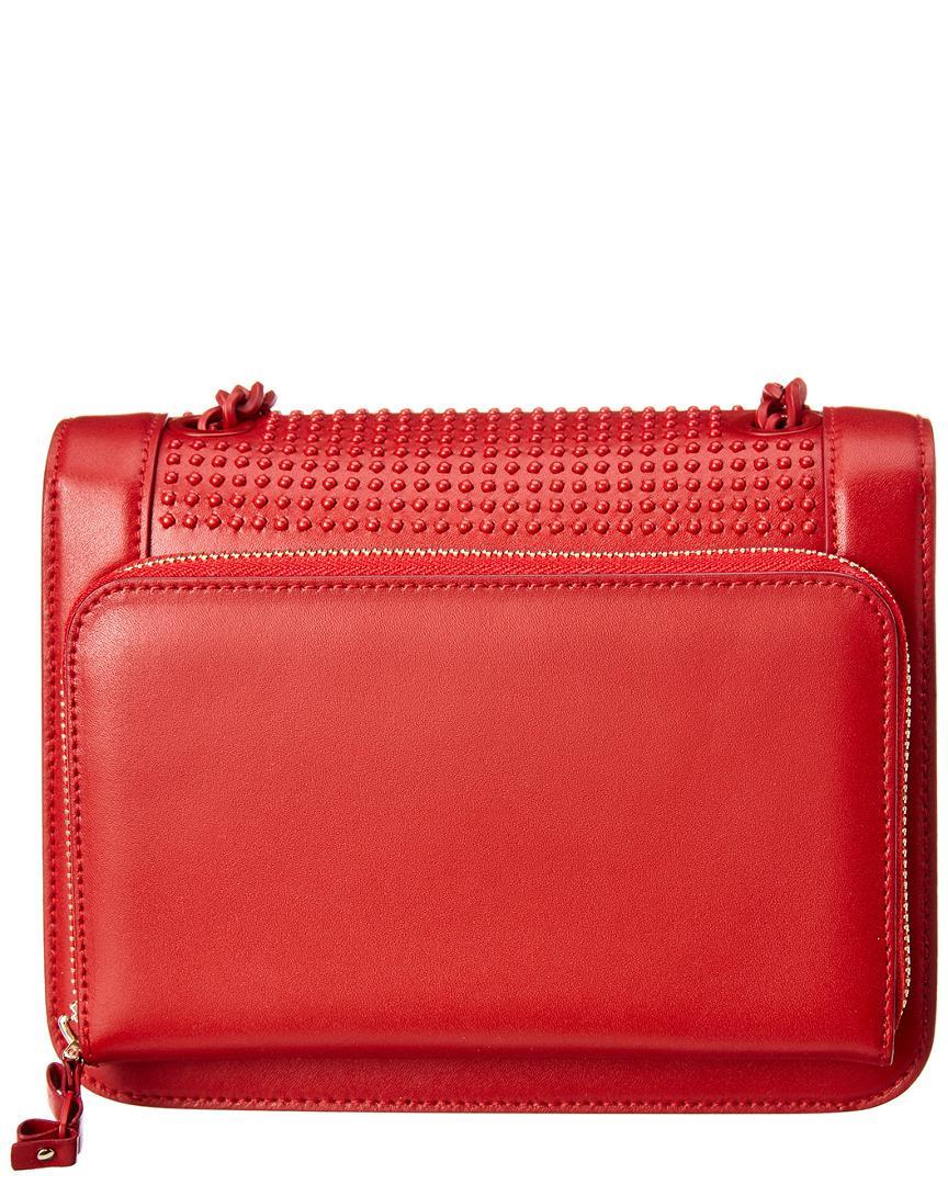 Lyst - Ferragamo Vara Bow Leather Crossbody in Red 80afb5c3a46e0