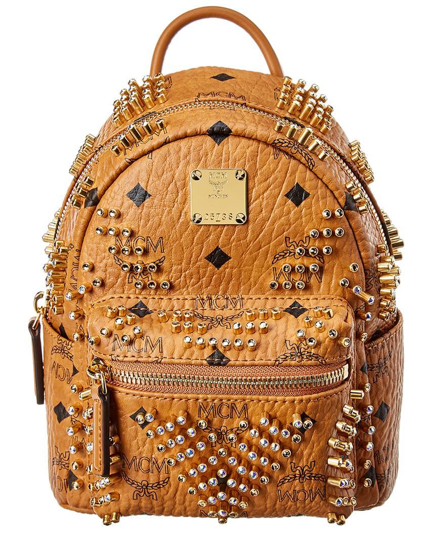 07fb896fefa1 Lyst - MCM Stark Bebe Boo Mini Backpack in Brown
