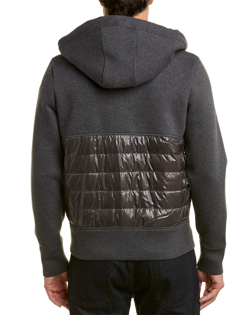 071d07797 Lyst - Moncler Hooded Down Sweatshirt in Gray for Men - Save ...