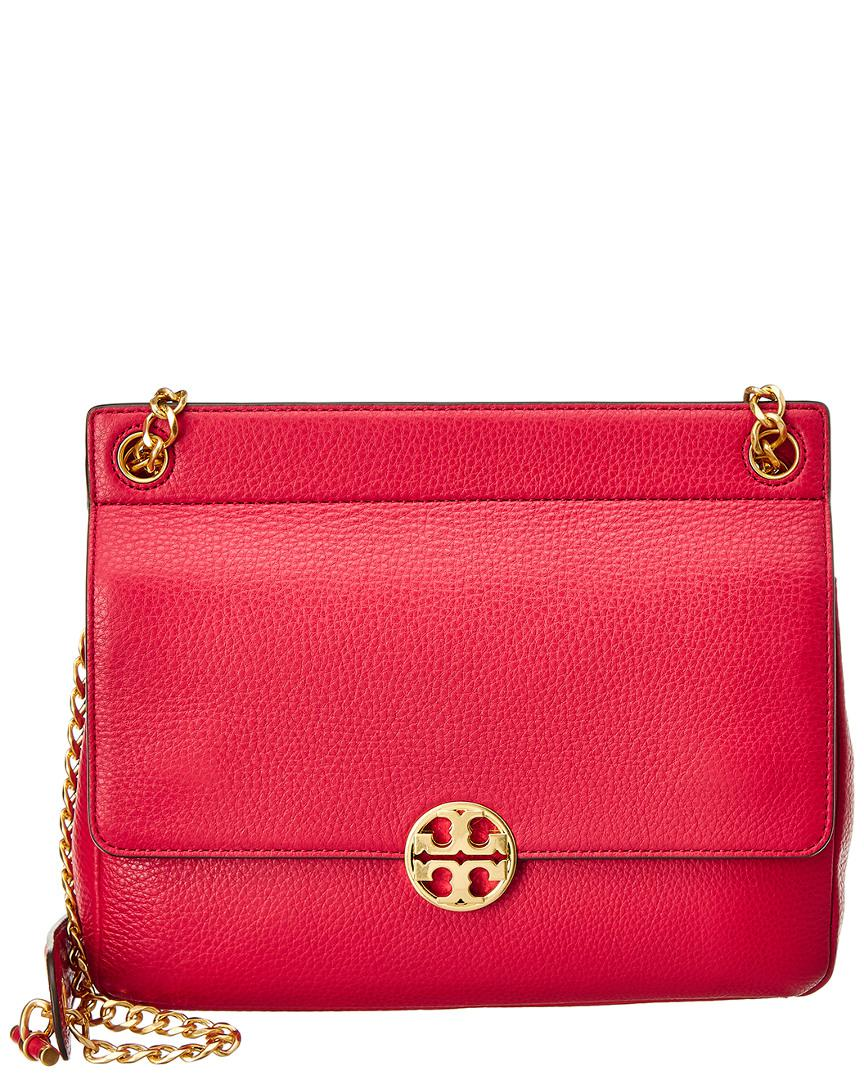 5b23e5796e8 Lyst - Tory Burch Chelsea Flap Leather Shoulder Bag in Red