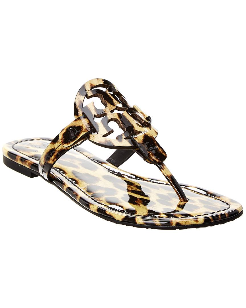 12add299f365d3 Tory Burch Miller Patent Sandal in Brown - Lyst