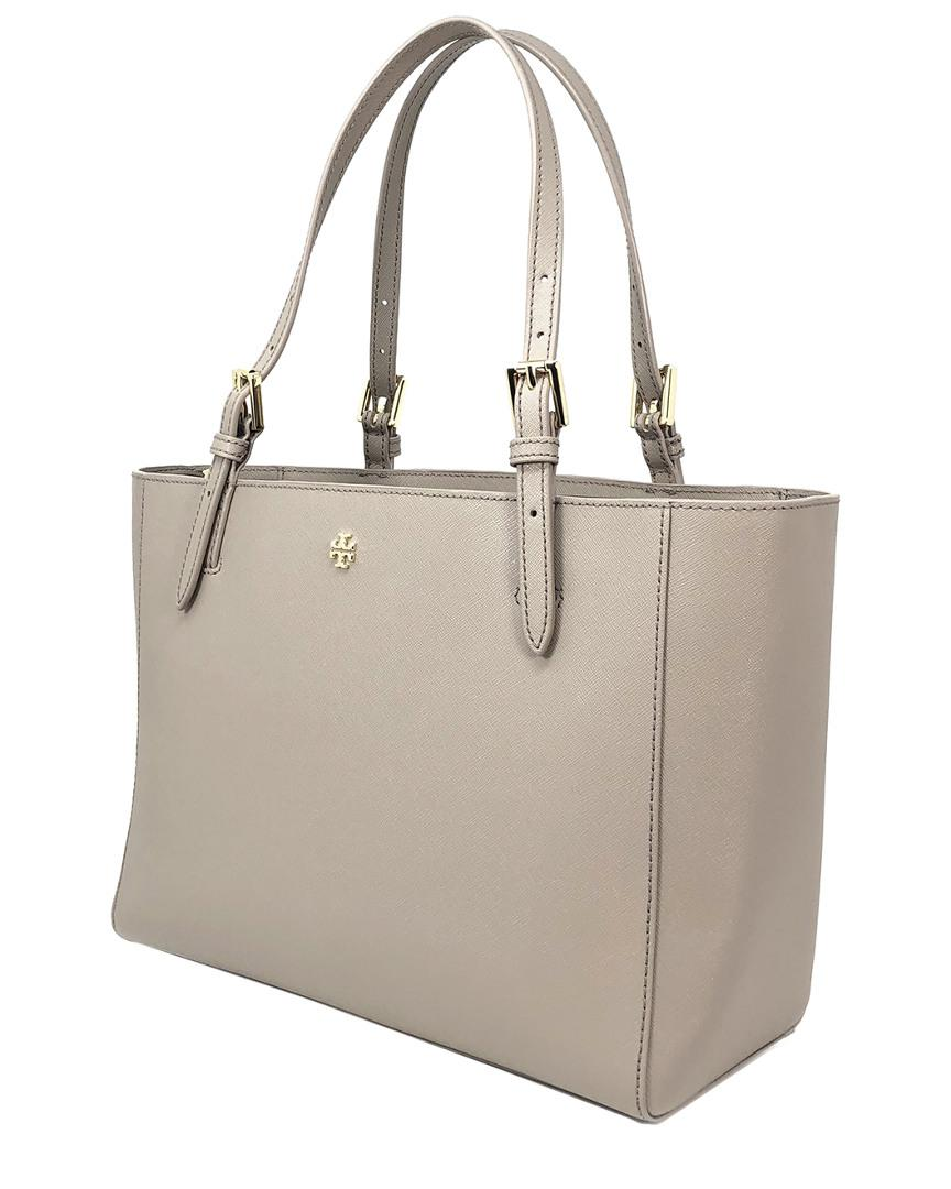 0aae270f18eb Lyst - Tory Burch Emerson Small Buckle Leather Tote