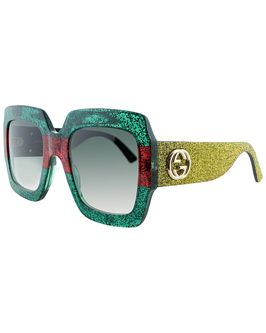 d9d3df836e Gucci GG0102S 54mm Sunglasses in Green - Lyst