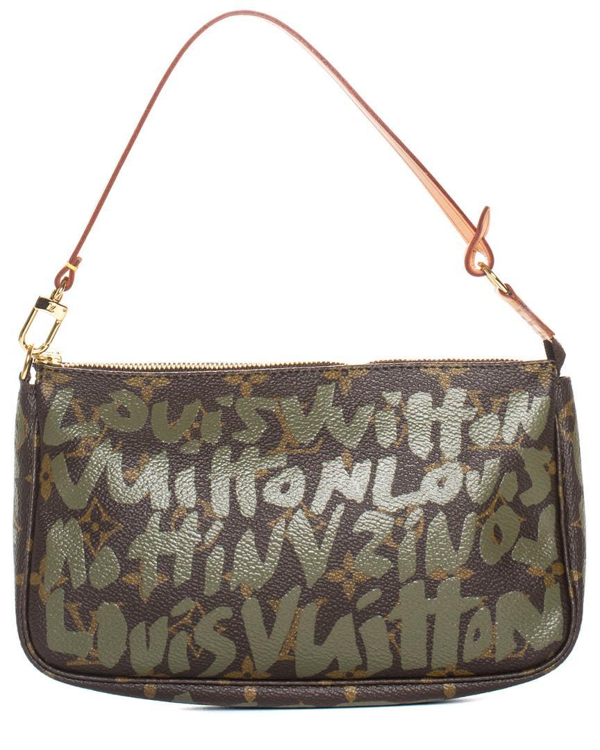 25dd53556bcb Lyst - Louis Vuitton Limited Edition Stephen Sprouse Khaki Graffiti ...