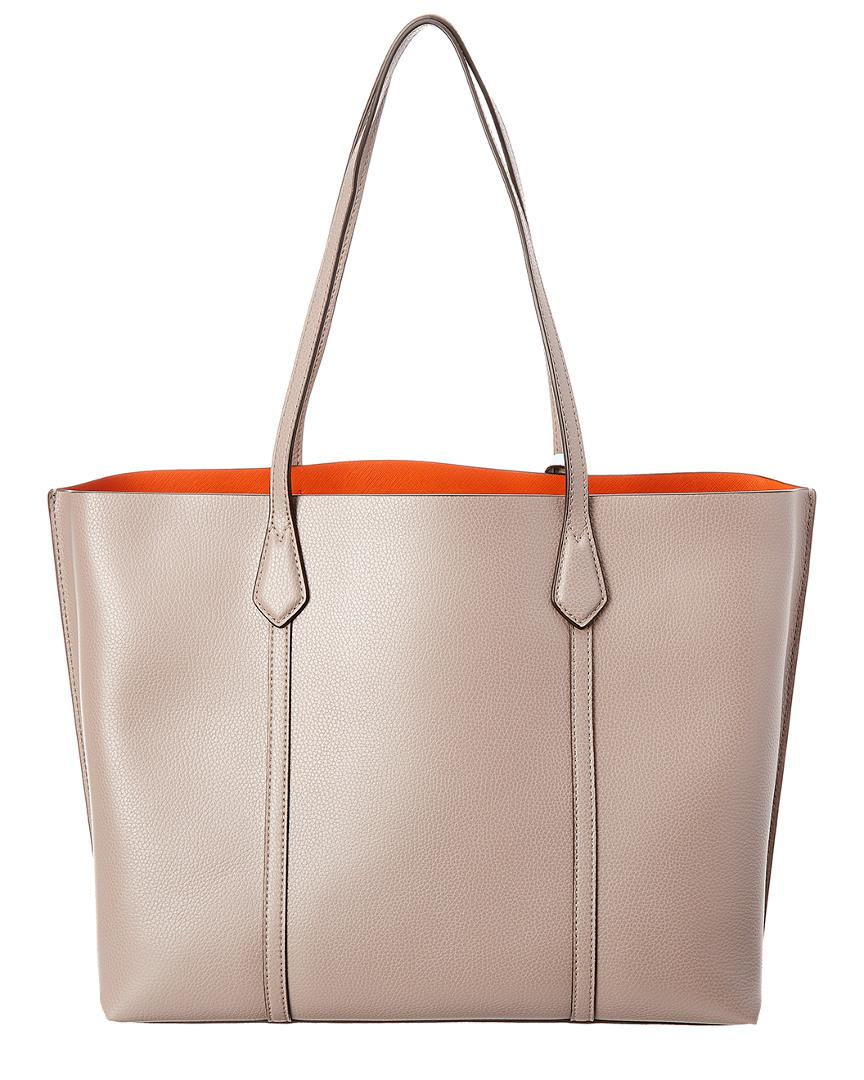 3d555116ecf36 Lyst - Tory Burch Perry Triple Compartment Leather Tote in Gray