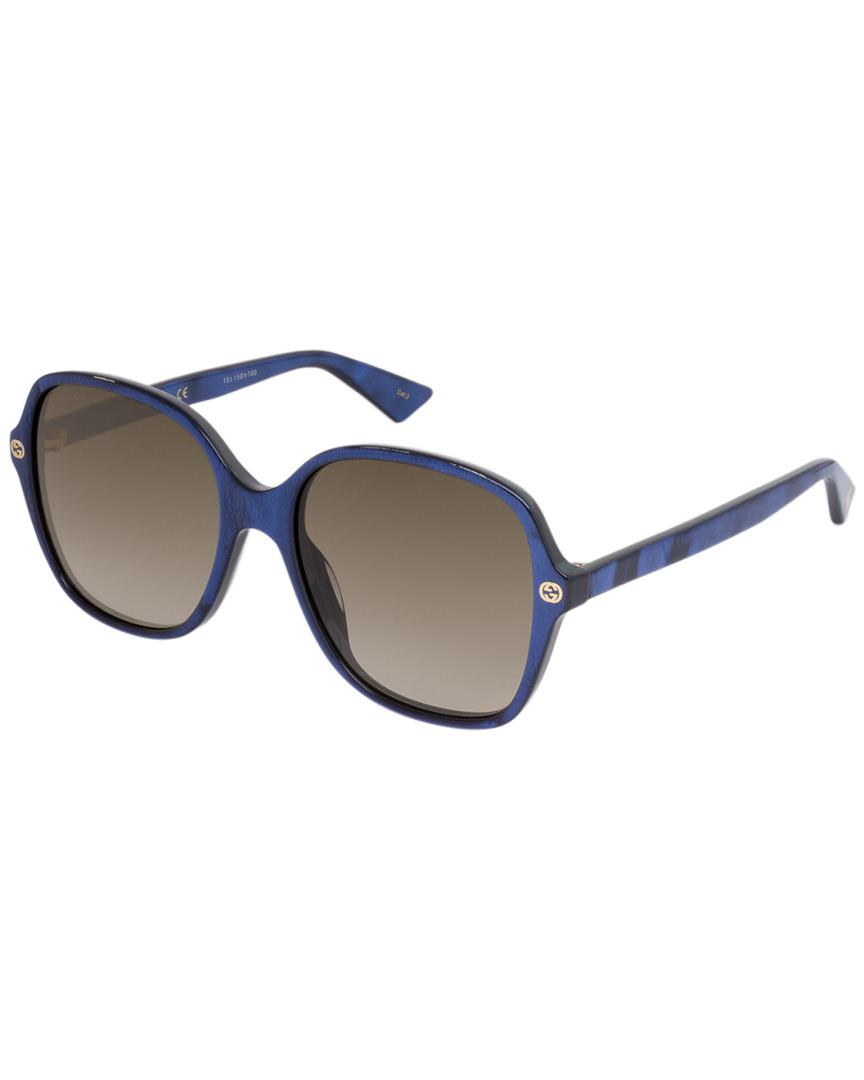 3d08e665cb Gucci Women s Gg0092s 55mm Sunglasses in Blue - Save ...