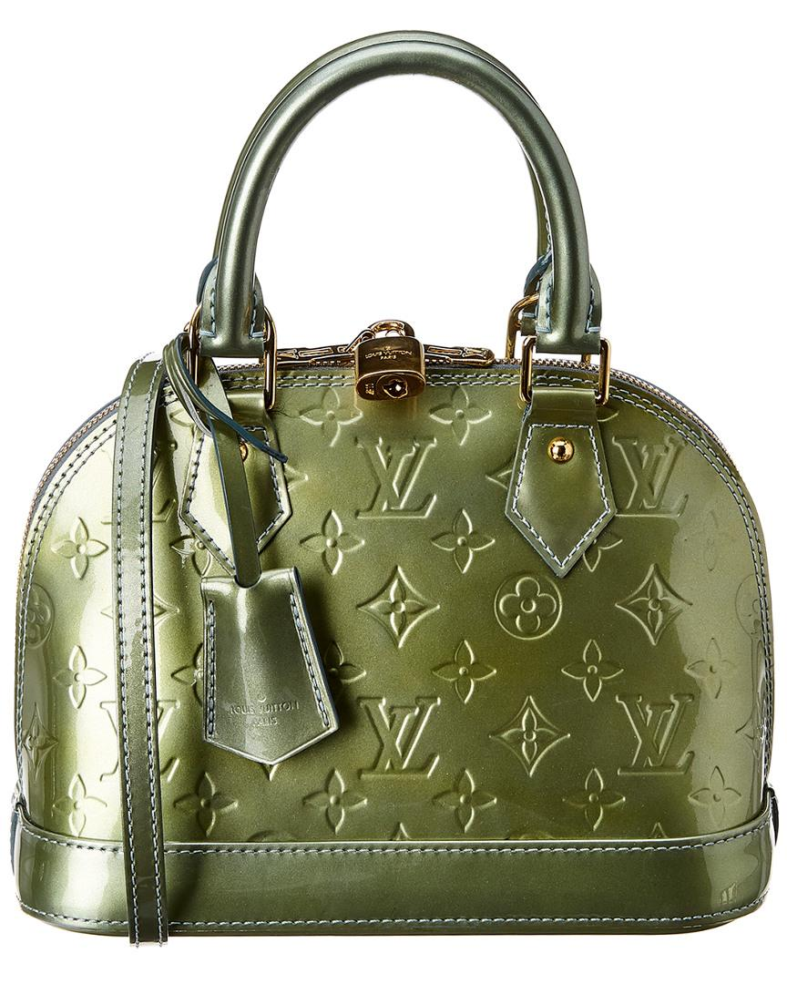 1e1178d095d4 Louis Vuitton Green Monogram Vernis Leather Alma Bb in Green - Lyst