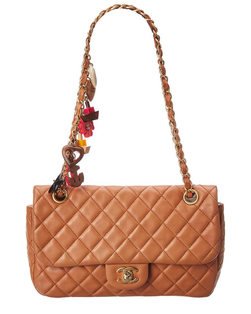 a42a9c4fe32a Lyst - Chanel Limited Edition Brown Quilted Lambskin Leather Medium ...
