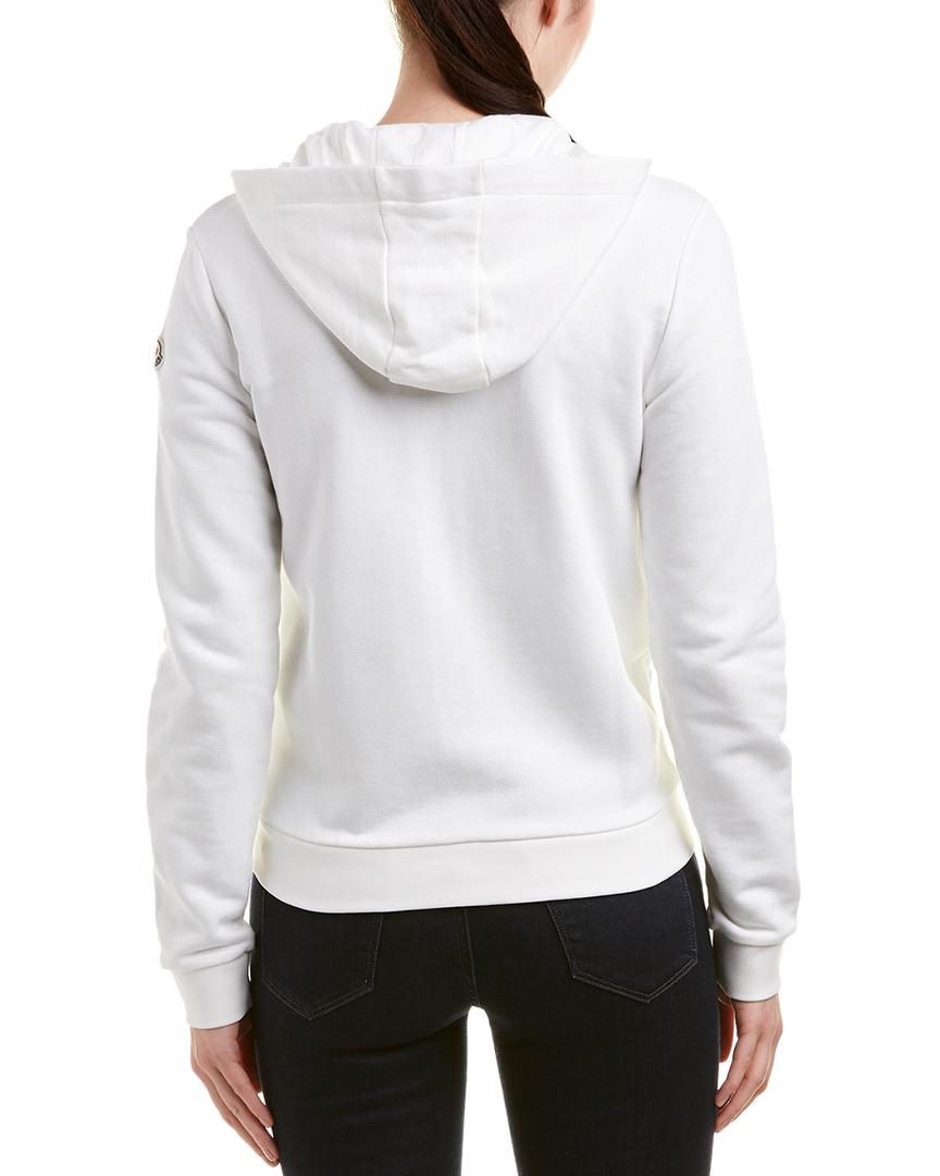 bebb88d86 Lyst - Moncler Hoodie in White - Save 31.818181818181813%