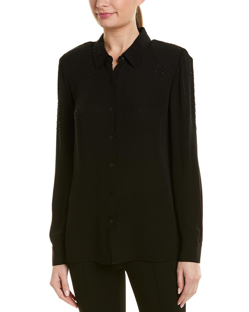 992e298790ad7 Elie Tahari Silk Top in Black - Lyst
