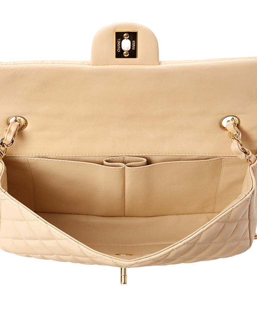 ec090af72439 Chanel Beige Quilted Lambskin East/west Flap Bag in Natural - Lyst