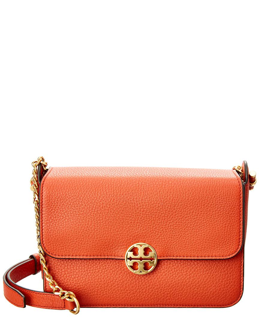 e195dea2552c Tory Burch Chelsea Leather Crossbody in Orange - Lyst