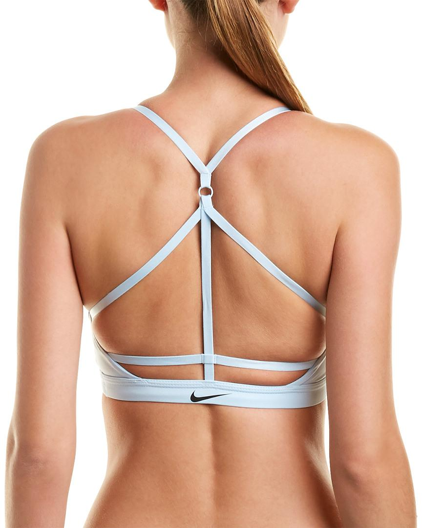 c478b2a75 Lyst - Nike Indy Just Do It Bra in Blue - Save 19%