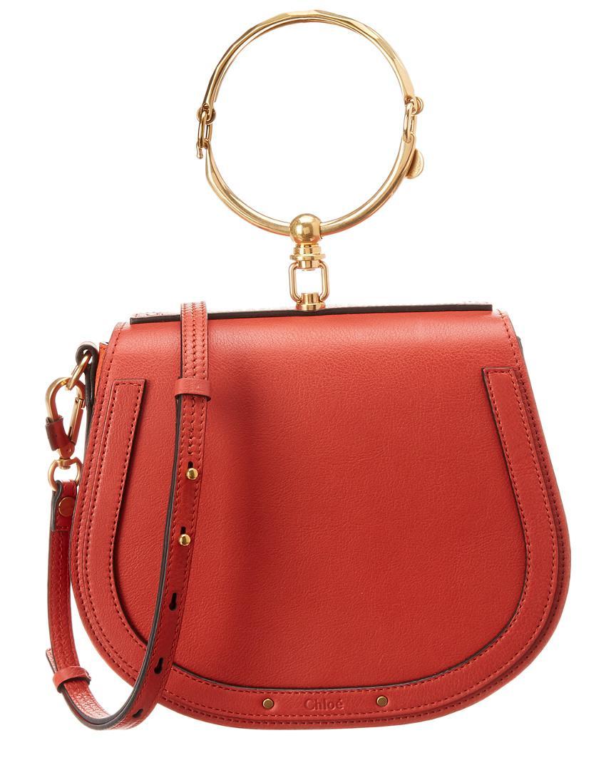 9f0b4c24 Chloé Nile Medium Leather & Suede Bracelet Bag in Red - Save ...
