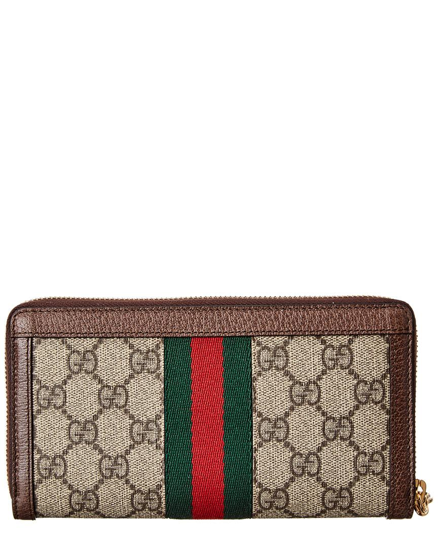 c55a57e9780 Lyst - Gucci GG Ophidia Zip Around Wallet in Brown - Save 8%