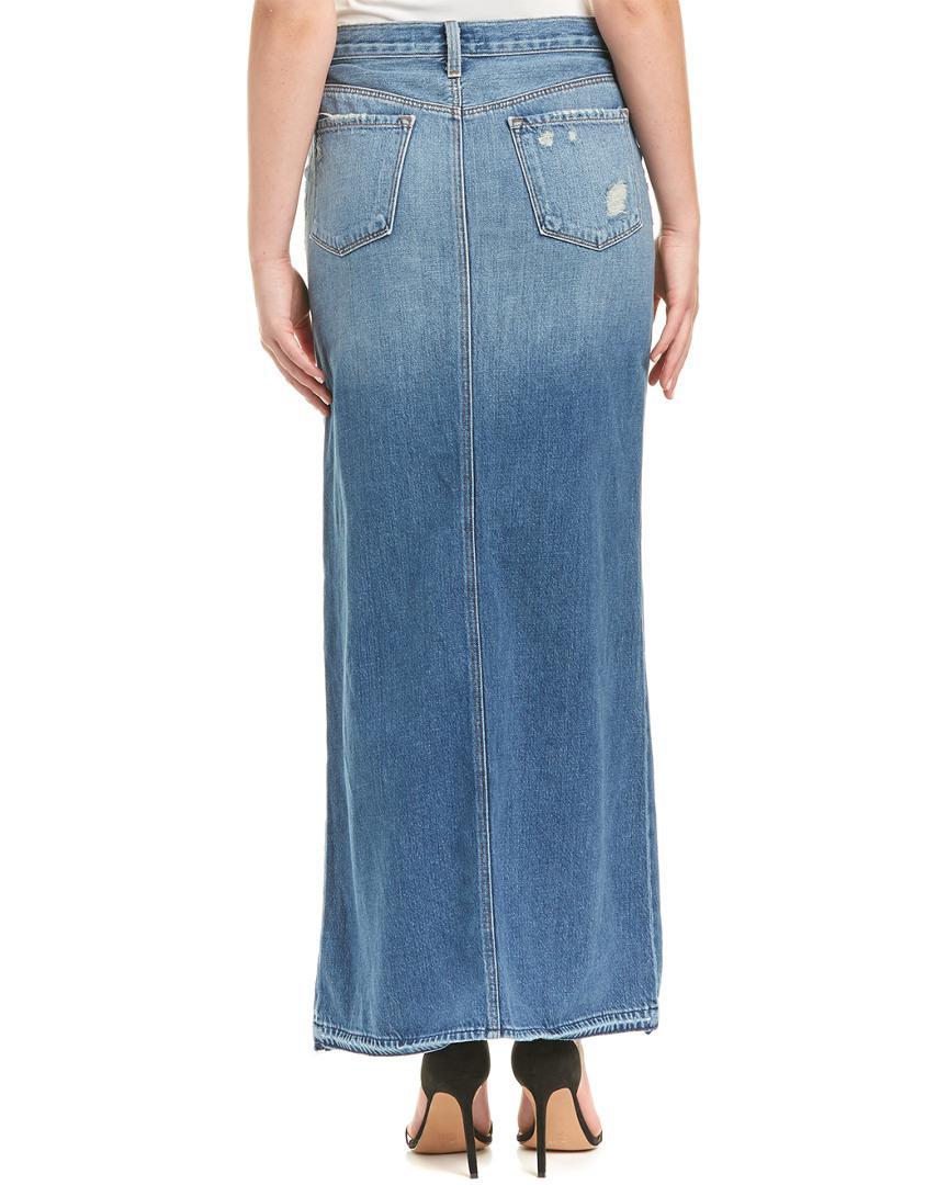 4c1d734238 Lyst - J Brand Trystan Light Blue Maxi Denim Skirt in Blue