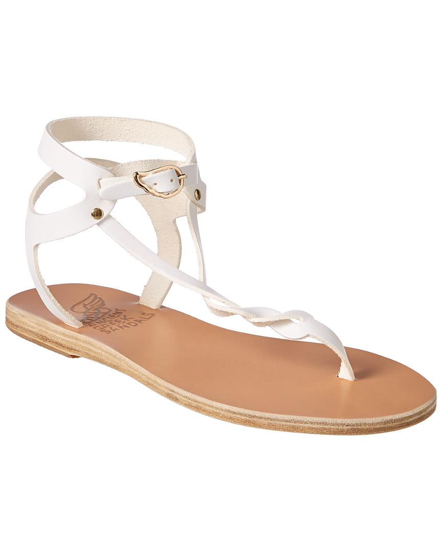 7aeed443e Lyst - Ancient Greek Sandals Sandals Ismene Leather Sandal in White