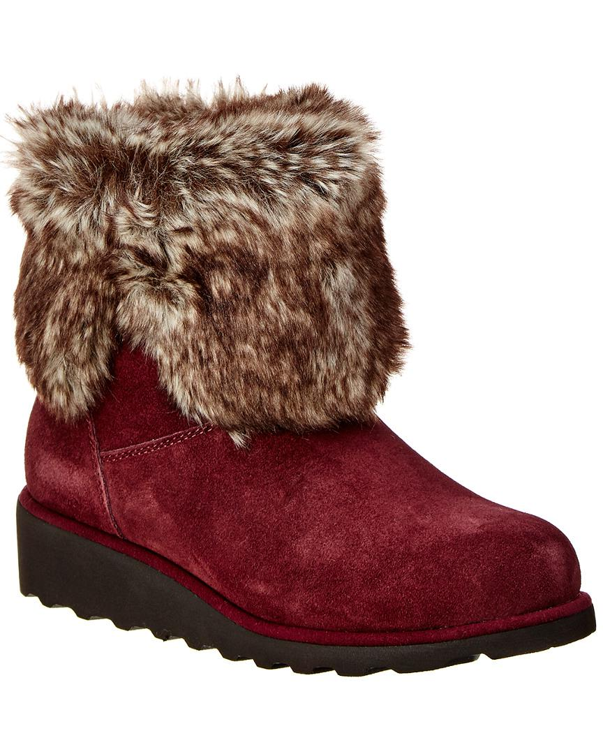 10e93e1710f1 BEARPAW Marlene Never Wet Water-resistant Suede Boot in Red - Lyst