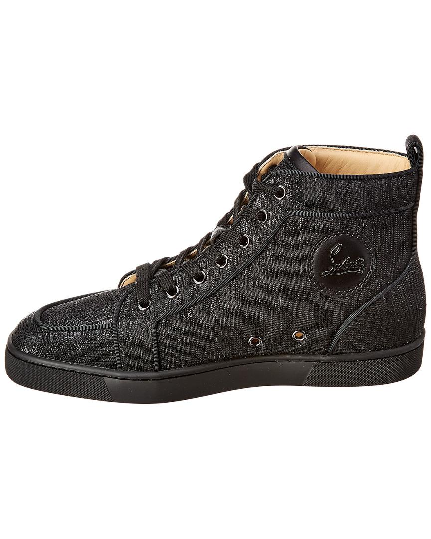 6fed3861f0d Lyst - Christian Louboutin Lurex Sneaker in Black for Men - Save 10%