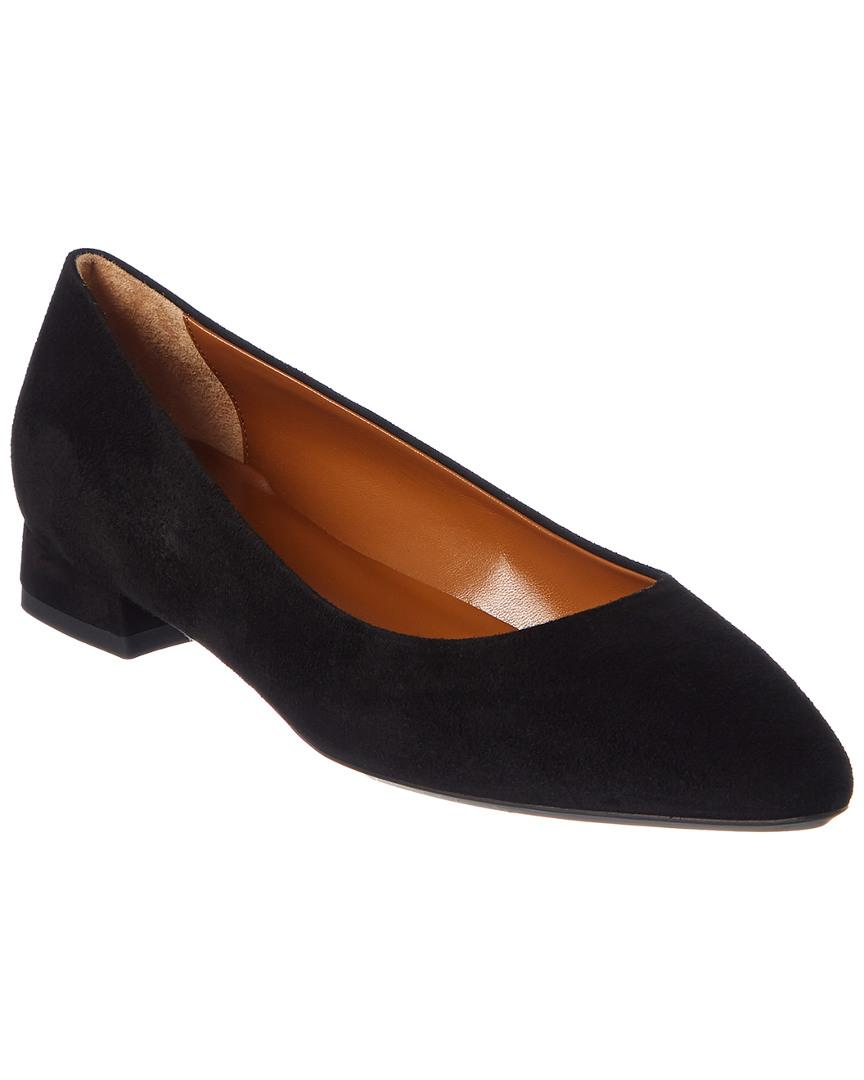 9169ea4ecea Aquatalia Penina Suede Rubber-sole Ballet Flats in Black - Save 40 ...