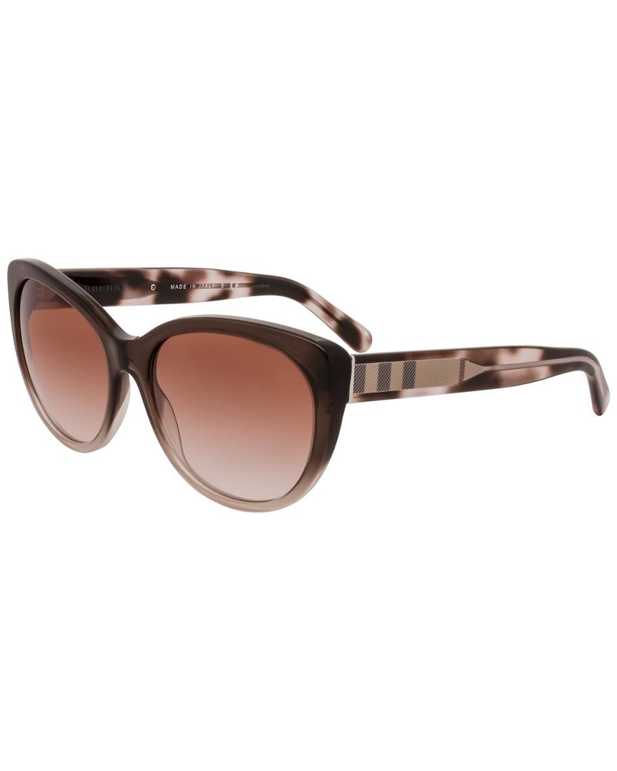 d56ae2880a7d Burberry Women s Be4224 56mm Sunglasses in Brown - Lyst
