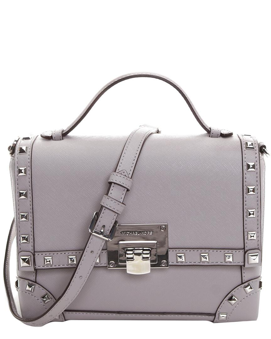 073d2bbe5a71 Lyst - Michael Kors Michael Tina Std Small Trunk Bag Leather ...