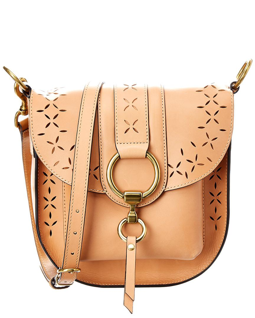 1c2c8a95e0 Lyst - Frye Ilana Perf Leather Saddle Bag in Brown
