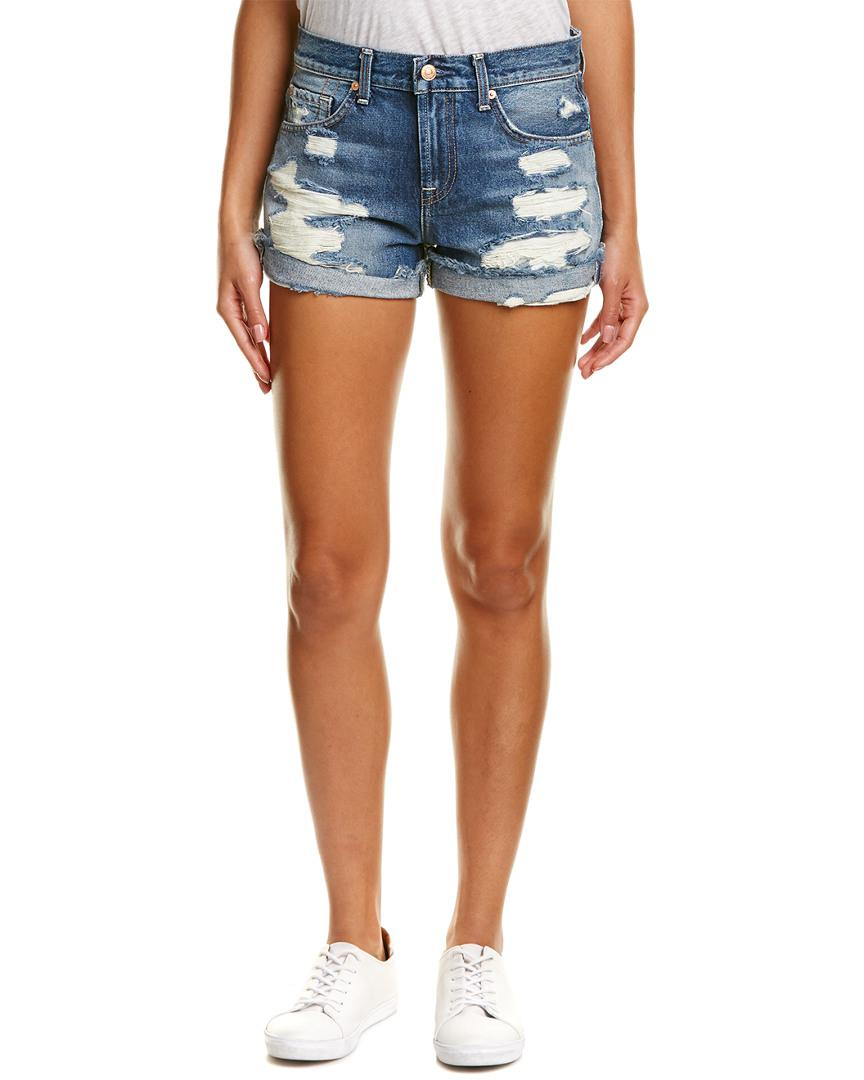 67a36c2f4 Lyst - 7 For All Mankind 7 For All Mankind Cuffed Serratoga Bay ...