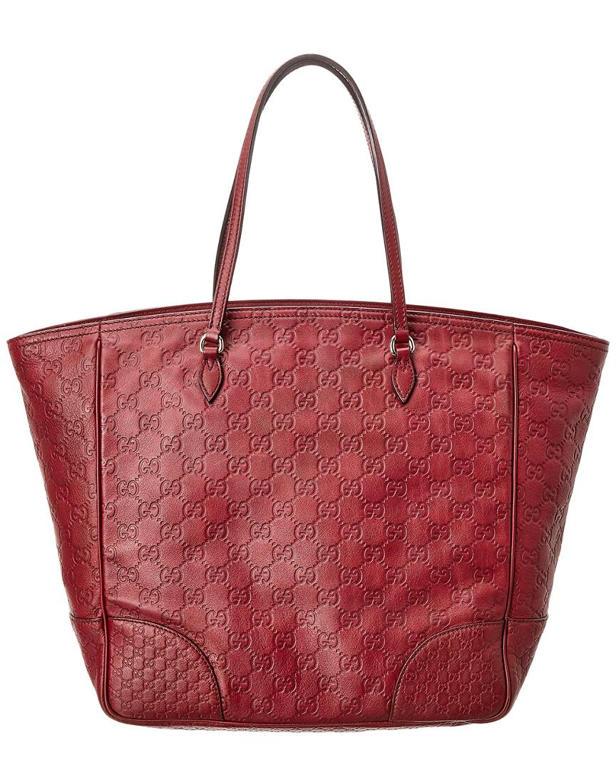 Lyst - Gucci Red Ssima Leather Tote in Red 4d9a82cf49f1b
