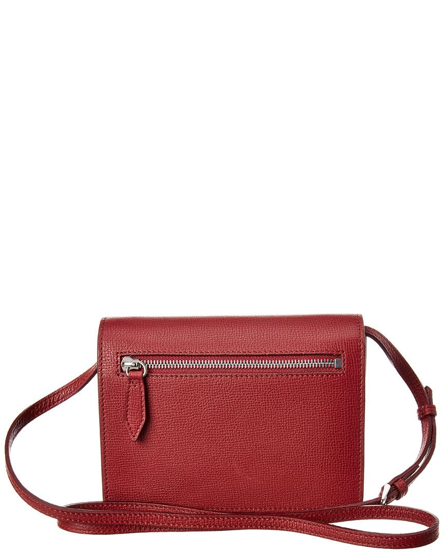 ca797f45d1f7 Burberry Macken Mini Vintage Check   Leather Crossbody in Red - Save 40% -  Lyst