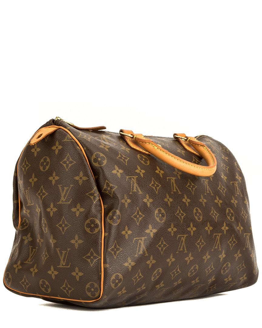 24216ddeed3f Louis Vuitton Monogram Canvas Speedy 30 in Brown - Lyst
