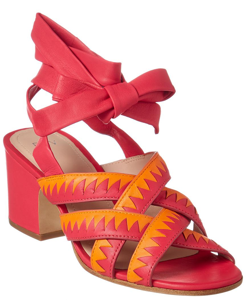 e3b534cfdc09 Lyst - Pour La Victoire Anisa Leather Sandal in Pink - Save 49%
