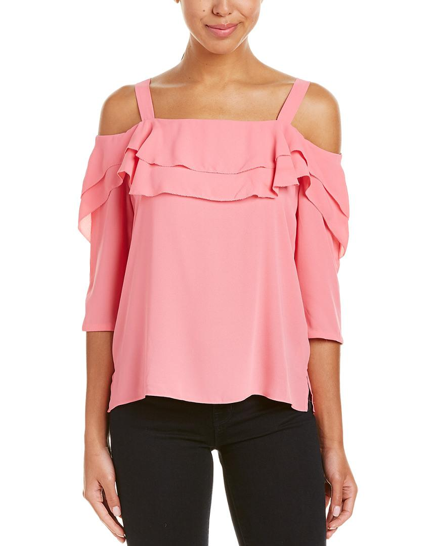 f6d786f92a3272 Lyst - NYDJ Petite Cold-shoulder Top in Pink - Save 61%