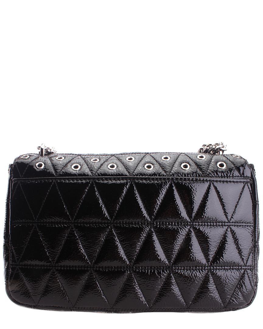 d2e2efd974c6 Michael Kors Sloan Leather Shoulder Bag in Black - Lyst