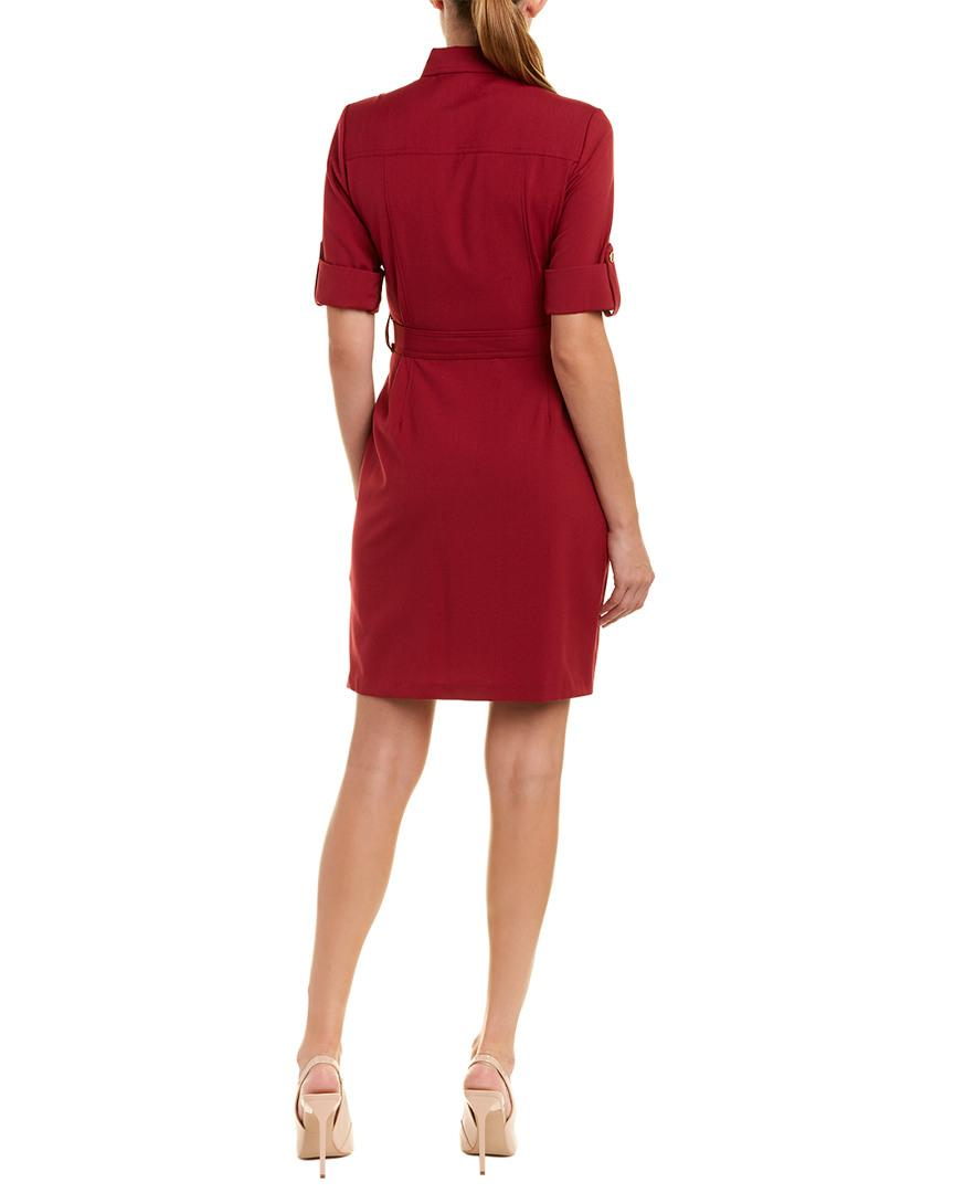 Lyst Sharagano Shirtdress In Red