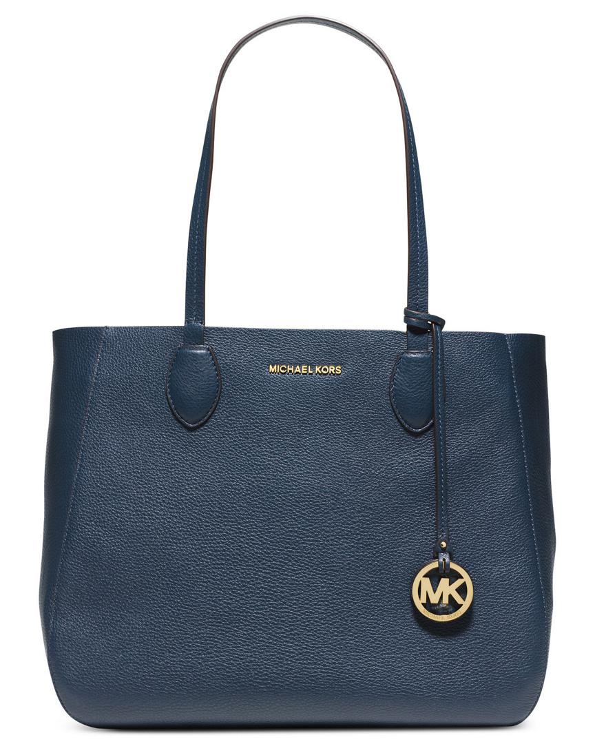 fe9e118a5b1c Michael Kors Michael Mae Soft Leather Reversible Carryall Tote in ...