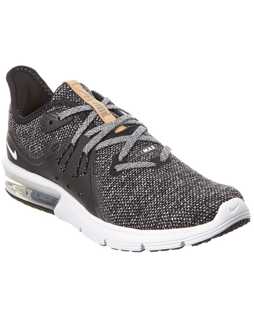 b866be69490a7 Nike Women s Air Max Sequent 3 Running Shoe in Black - Lyst