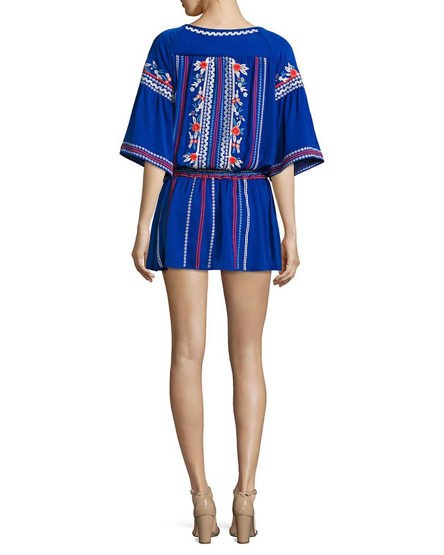 13035284325b6 Lyst - Parker Giselle Embroidered Dress in Blue - Save 27%