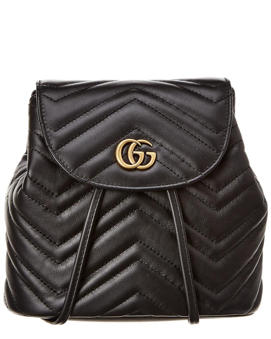 2c87f0d55290 Gucci GG Marmont Matelasse Leather Backpack in Black - Lyst